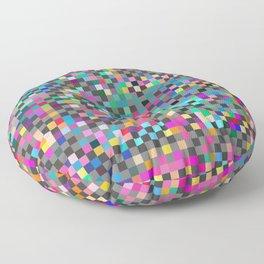 Patchwork Pixels Floor Pillow
