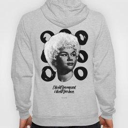 """Etta James """"Viss d'Arte"""" Collection - B&W Art Print Hoody"""