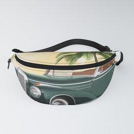 Vintage car,cabriolet Fanny Pack
