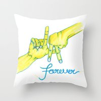 lakers Throw Pillows featuring Lakers Forever by NBA Textile