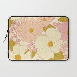 Pink Pastel Vintage Floral Pattern Laptop Sleeve