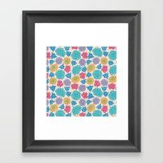 RocoFloral (peach) Framed Art Print