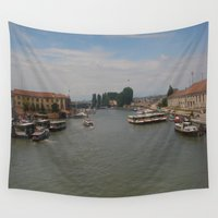 italy Wall Tapestries featuring Italy  by M.S. Art