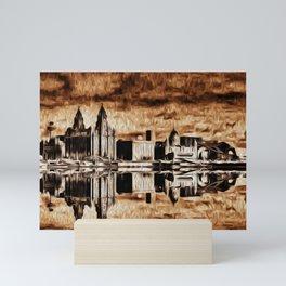 Liverpool Water front Skyline (Digital Art) Mini Art Print
