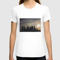 singapore T-shirts featuring Singapore Skyline by LeahArtOfficial
