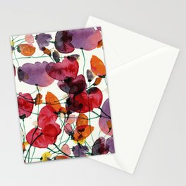 Purple flower bed Stationery Cards