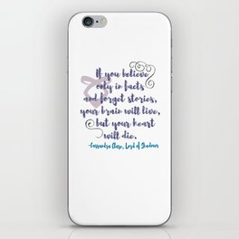 STORIES | CASSANDRA CLARE, LORD OF SHADOWS iPhone Skin