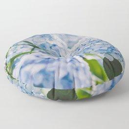 Blue Hydrangeas Floor Pillow