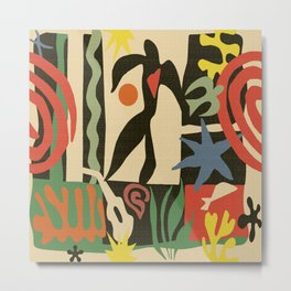 Inspired to Matisse (vintage) Metal Print