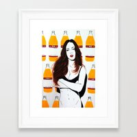badwood Framed Art Prints featuring 40 oz BOUNCE by Badwood