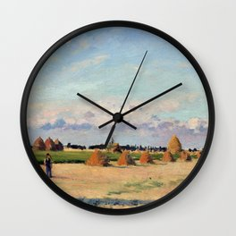Camille Pissarro Landscape, Ile-de-France Wall Clock