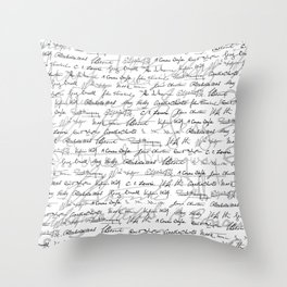 Literary Giants Pattern II Throw Pillow