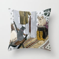 House Pets Throw Pillow
