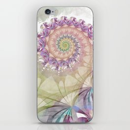 Watercolor Fibonacci Spiral iPhone Skin