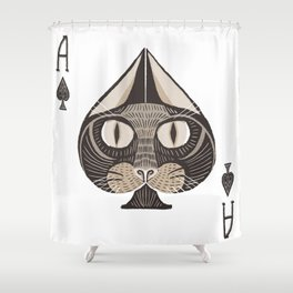 Ace of Spades Shower Curtain