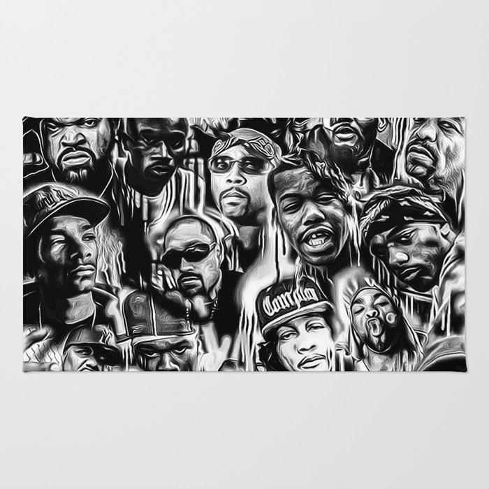 Gangster Rap Legends Print Rug