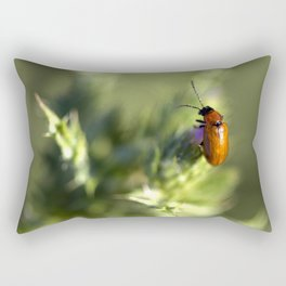 Red Bug Rectangular Pillow