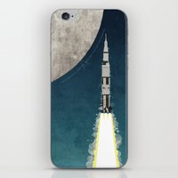 apollo iPhone & iPod Skins featuring Apollo Rocket by WyattDesign