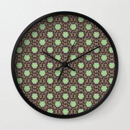 Floral Damask Molasses Wall Clock