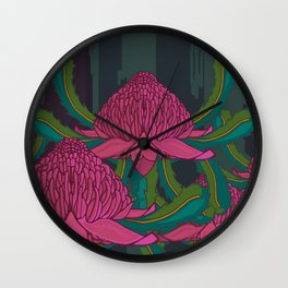 Waratah Forest Wall Clock