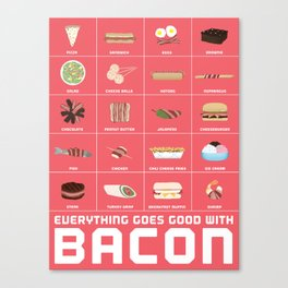 Bacon Poster Canvas Print