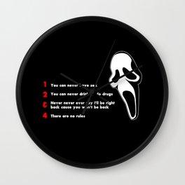 Scream: Randy´s rules Wall Clock