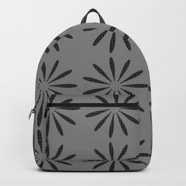 Abstract Dotted Flowers Pattern Grey Backpack