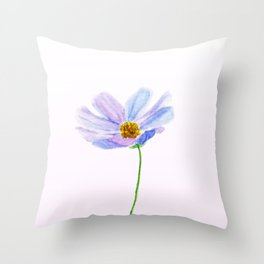 one purple cosmos Throw Pillow