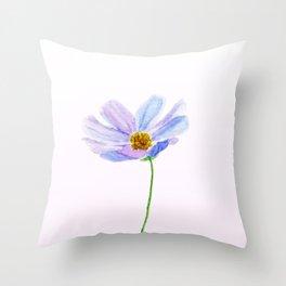 one purple cosmos Throw Pillow