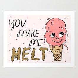 Melty Cone Art Print