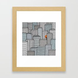 City Foliage Framed Art Print