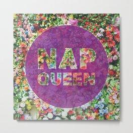 Nap Queen in Purple Metal Print
