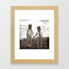 Sister and Brother Framed Art Print