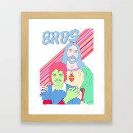 Bros in Heaven Framed Art Print