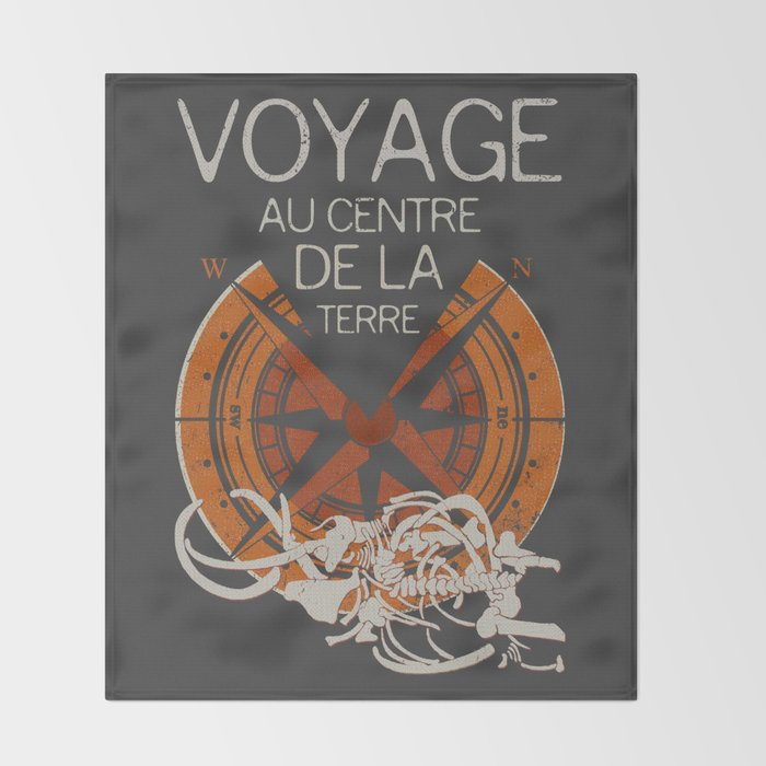Books Collection: Jules Verne Throw Blanket