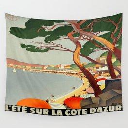 Vintage poster - Cote D'Azur, France Wall Tapestry