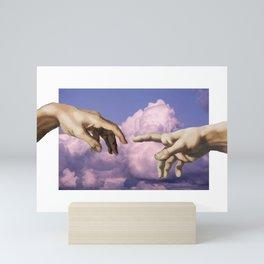 The Creation of Adam - Clouds Mini Art Print