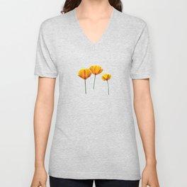Three Poppies Unisex V-Neck