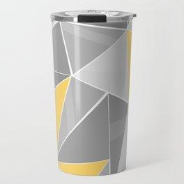 Pattern, grey - yellow Travel Mug