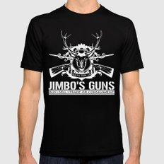 Jimbo's Guns LARGE Black Mens Fitted Tee