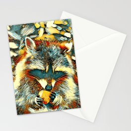 AnimalArt_Raccoon_20170901_by_JAMColorsSpecial Stationery Cards
