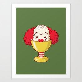 clown & egg Art Print