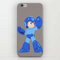 megaman iPhone & iPod Skins featuring Megaman by Megan Yiu