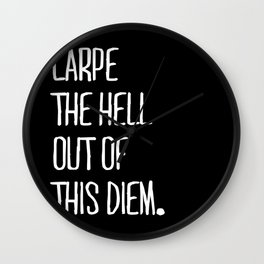 Carpe Diem ///www.pencilmeinstationery.com Wall Clock