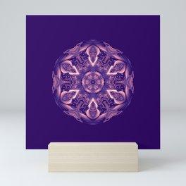 Ultra Violet Coral Mandala Trendy Color of the year 2018 Mini Art Print