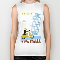 italy Biker Tanks featuring Italy by Laurel Natale