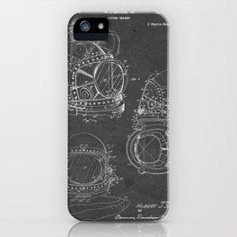 Diving Helmet - Patent #3,353,534 - H. J. Savoie Jr. - 1967 iPhone Case