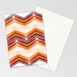 Geometric Wave Stationery Cards
