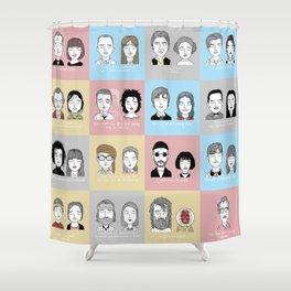 Sad Movie Couples Shower Curtain