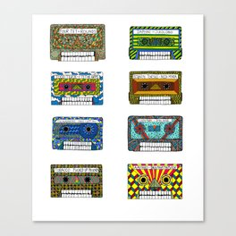 Electronic music Tapeskulls Canvas Print